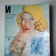 Coleccionismo de Revistas y Periódicos: NUEVA LENTE 45, NOV 1975 – JOAN FONTCUBERTA, DAVID HAMILTON, SHEDRIK WILLIAMES, E. SÁENZ DE S. PEDRO. Lote 162411978