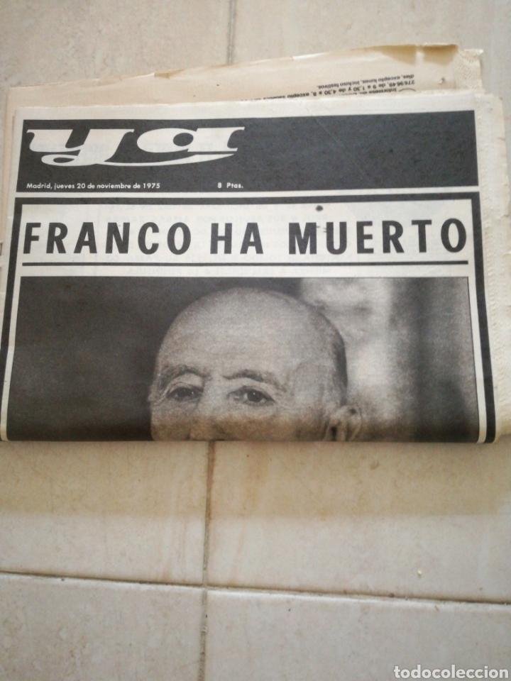 Coleccionismo de Revistas y Periódicos: PERIÓDICO YA REFERENTE A LA MUERTE DE FRANCO - Foto 4 - 162583266