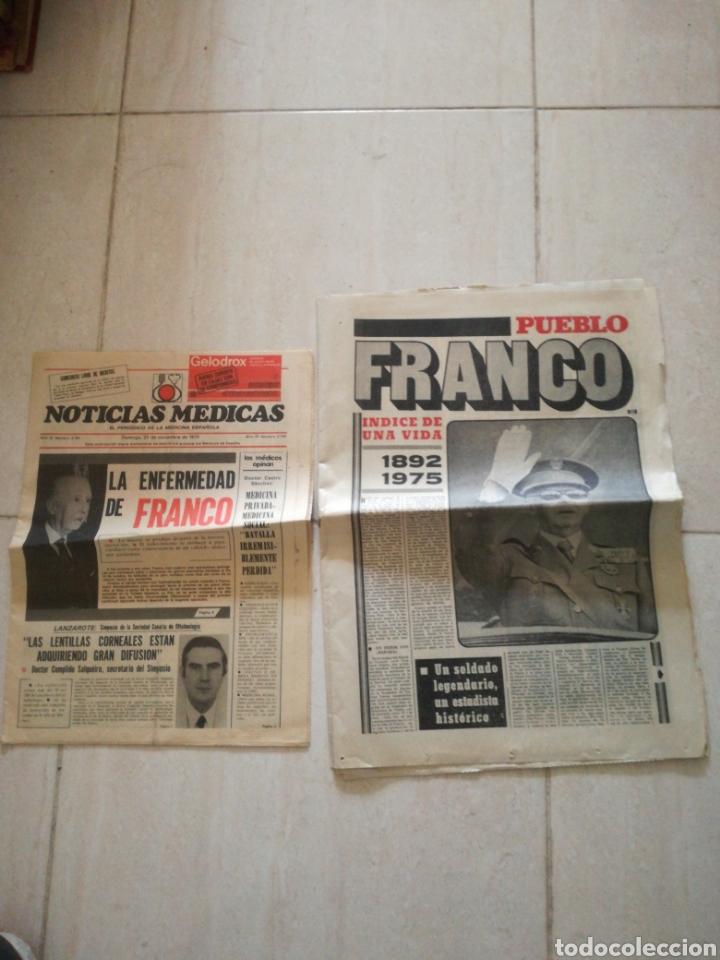 PERIODICO PUEBLO REFERENTE A FRANCO (Coleccionismo - Revistas y Periódicos Modernos (a partir de 1.940) - Otros)