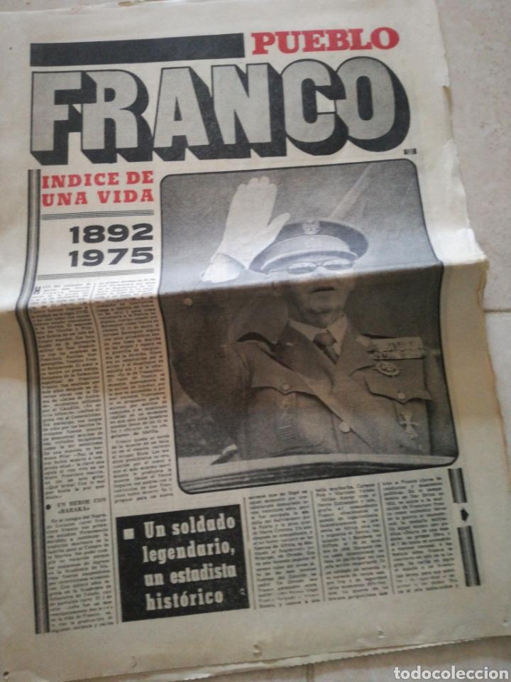 Coleccionismo de Revistas y Periódicos: PERIODICO PUEBLO REFERENTE A FRANCO - Foto 2 - 162584181