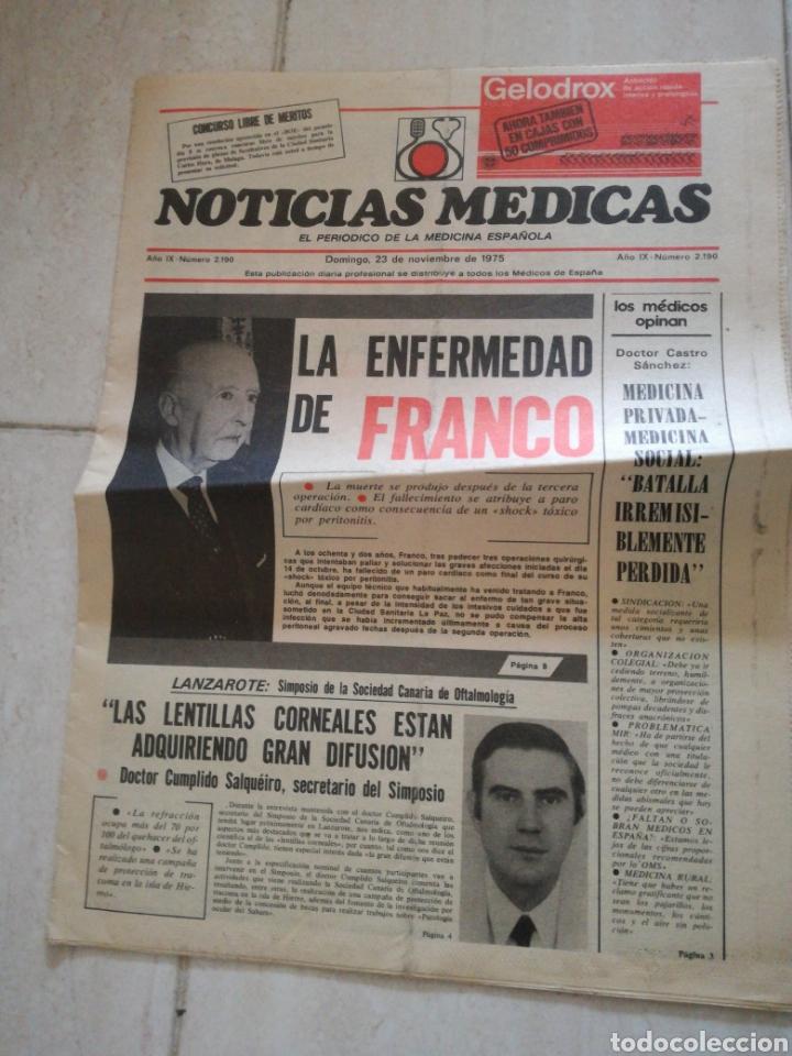 Coleccionismo de Revistas y Periódicos: PERIODICO PUEBLO REFERENTE A FRANCO - Foto 3 - 162584181