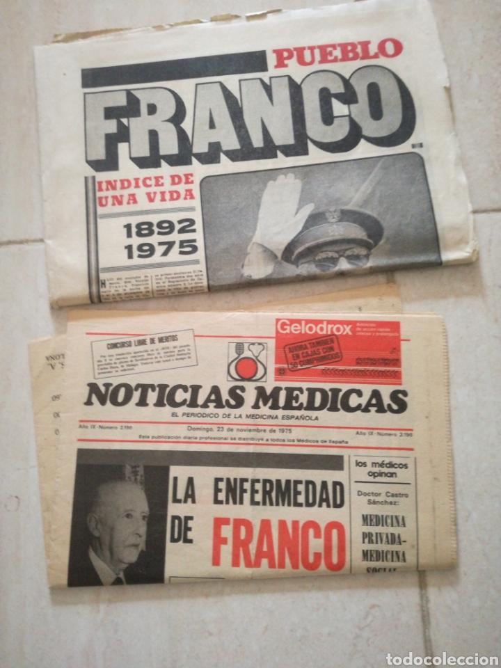 Coleccionismo de Revistas y Periódicos: PERIODICO PUEBLO REFERENTE A FRANCO - Foto 4 - 162584181