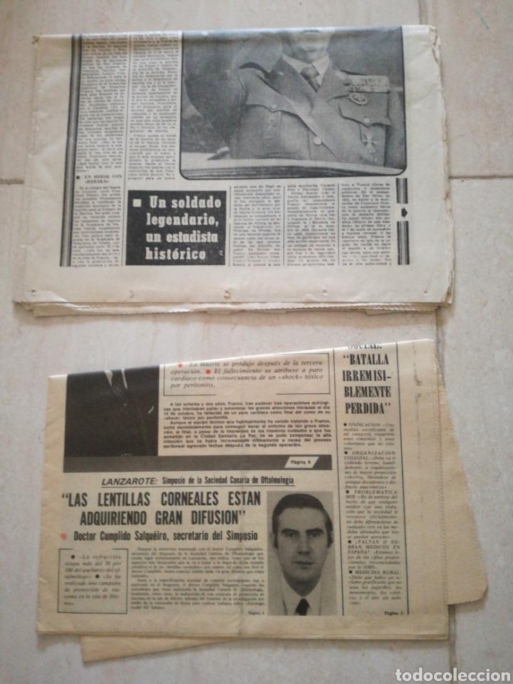 Coleccionismo de Revistas y Periódicos: PERIODICO PUEBLO REFERENTE A FRANCO - Foto 5 - 162584181