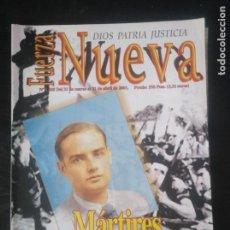 Coleccionismo de Revistas y Periódicos: REVISTA FUERZA NUEVA 1245 MARZO 2001 GUERRA CIVIL FALANGE FRANCO. Lote 162679014