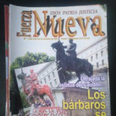 Coleccionismo de Revistas y Periódicos: REVISTA FUERZA NUEVA 1249 JUNIO 2001 FRANCO FALANGE. Lote 162682122