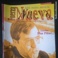 Coleccionismo de Revistas y Periódicos: REVISTA FUERZA NUEVA 1240 ENERO 2001 FRANCO FALANGE . Lote 162682490