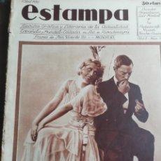 Coleccionismo de Revistas y Periódicos: REVISTA ESTAMPA 1930 SEMANA SANTA CARTAGENA -ATH CLUB BILBAO-CALVARIOS DE ARTESA SAGUNTO JATIBA. Lote 162758702