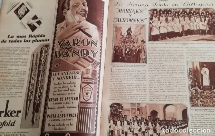 Coleccionismo de Revistas y Periódicos: revista estampa 1930 semana santa cartagena -ath club bilbao-CALVARIOS DE ARTESA SAGUNTO JATIBA - Foto 2 - 162758702
