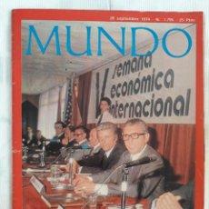 Coleccionismo de Revistas y Periódicos - MUNDO 28 SEPTIEMBRE 1974.ARGENTINAMONTONEROS.TERROSISMO EN JAPON:EJERCITO ROJO.NOEL COWARD.LA MURGA - 162936182