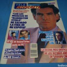 Coleccionismo de Revistas y Periódicos: REVISTA TELE INDISCRETA, REMINGTON STEELE, NUMERO 245 AÑO 1989. Lote 163331718