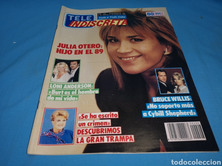 REVISTA TELE INDISCRETA, JULIA OTERO HIJO EN EL 89, NÚMERO 206 AÑO 1989 (Coleccionismo - Revistas y Periódicos Modernos (a partir de 1.940) - Otros)