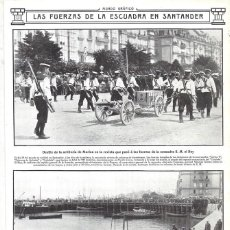 Collezionismo di Riviste e Giornali: 1912 HOJA REVISTA SANTANDER PUERTO DESFILE ARTILLERÍA DE MARINA EMBARQUE TROPAS MARINERÍA. Lote 163354230