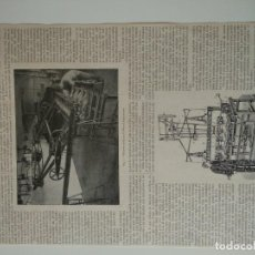 Coleccionismo de Revistas y Periódicos: HOJA REVISTA ORIGINAL SIGLO XIX. MAQUINA PARA HACER ESCULTURAS, WENZEL. Lote 163375742
