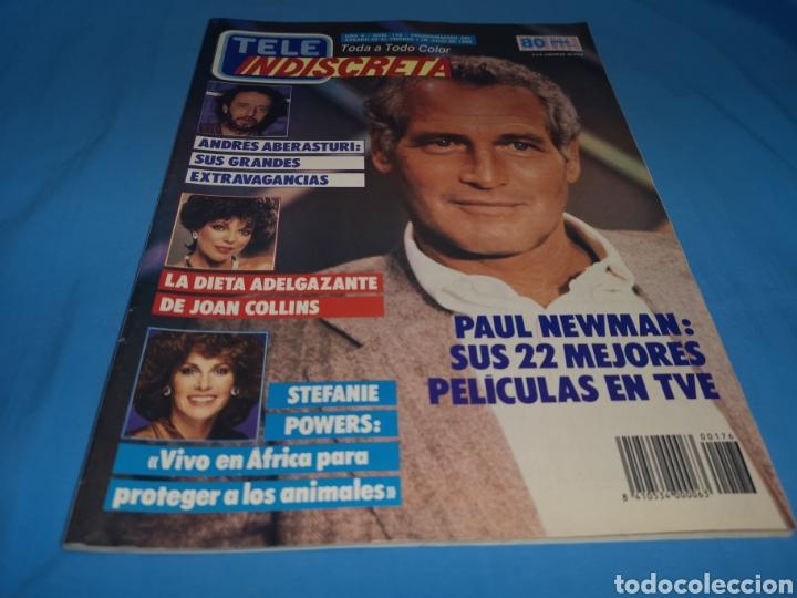 REVISTA TELE INDISCRETA, PAUL NEWMAN, NÚMERO 176 AÑO 1988 (Coleccionismo - Revistas y Periódicos Modernos (a partir de 1.940) - Otros)