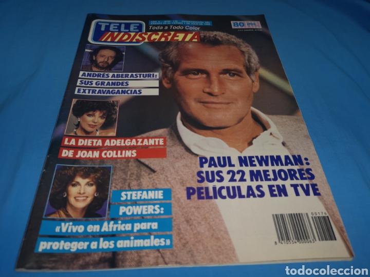 Coleccionismo de Revistas y Periódicos: Revista tele indiscreta, Paul Newman, número 176 año 1988 - Foto 2 - 163392380
