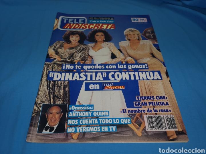 REVISTA TELE INDISCRETA, DINASTÍA CONTINÚA, NÚMERO 201 AÑO 1988 (Coleccionismo - Revistas y Periódicos Modernos (a partir de 1.940) - Otros)