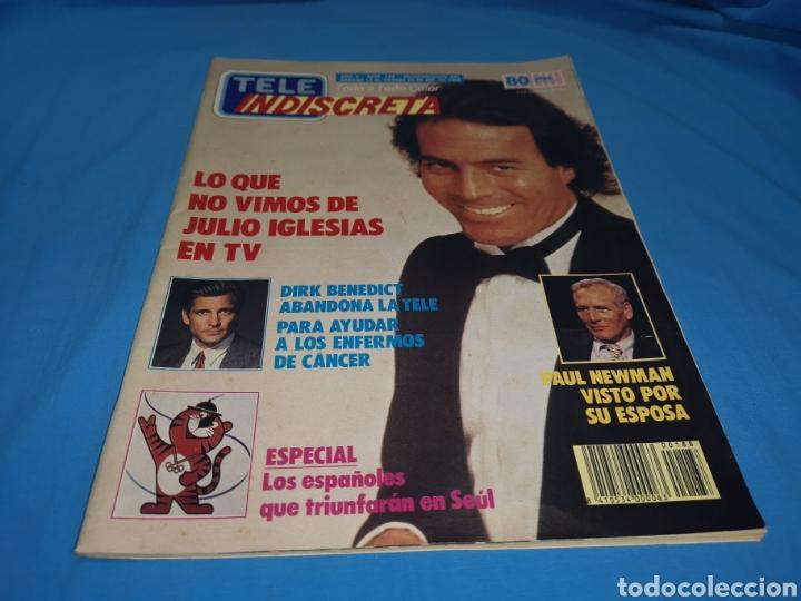 Coleccionismo de Revistas y Periódicos: Revista tele indiscreta, lo que no vimos de julio Iglesias en TV, número 188 año 1988 - Foto 2 - 163396710