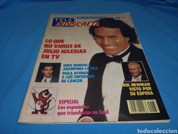 REVISTA TELE INDISCRETA, LO QUE NO VIMOS DE JULIO IGLESIAS EN TV, NÚMERO 188 AÑO 1988 (Coleccionismo - Revistas y Periódicos Modernos (a partir de 1.940) - Otros)