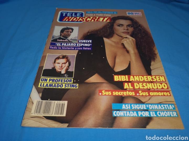 REVISTA TELE INDISCRETA, BIBI ANDERSEN AL DESNUDO, NÚMERO 174 AÑO 1988 (Coleccionismo - Revistas y Periódicos Modernos (a partir de 1.940) - Otros)