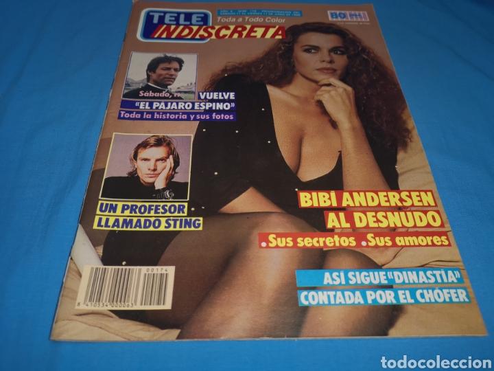 Coleccionismo de Revistas y Periódicos: Revista tele indiscreta, bibi andersen al desnudo, número 174 año 1988 - Foto 2 - 163397737