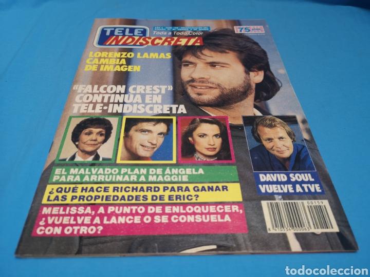 Coleccionismo de Revistas y Periódicos: Revista tele indiscreta, Lorenzo lamas, número 159 - Foto 3 - 163401120
