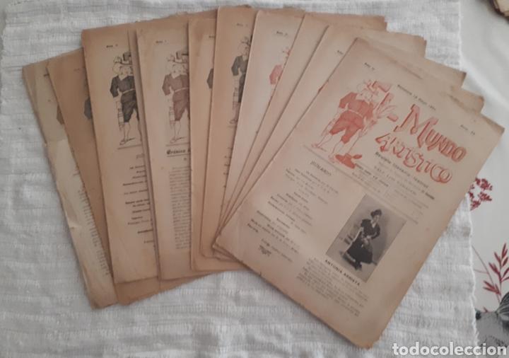 REVISTA LITERARIA - TEATRAL. EL MUNDO ARTÍSTICO. 1900 - 1901 (Coleccionismo - Revistas y Periódicos Antiguos (hasta 1.939))