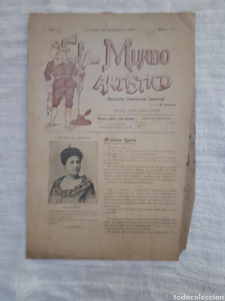 Coleccionismo de Revistas y Periódicos: Revista literaria - teatral. El Mundo Artístico. 1900 - 1901 - Foto 2 - 163611722
