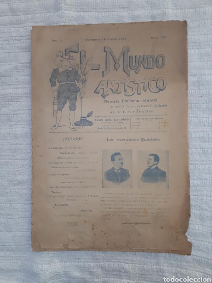 Coleccionismo de Revistas y Periódicos: Revista literaria - teatral. El Mundo Artístico. 1900 - 1901 - Foto 4 - 163611722