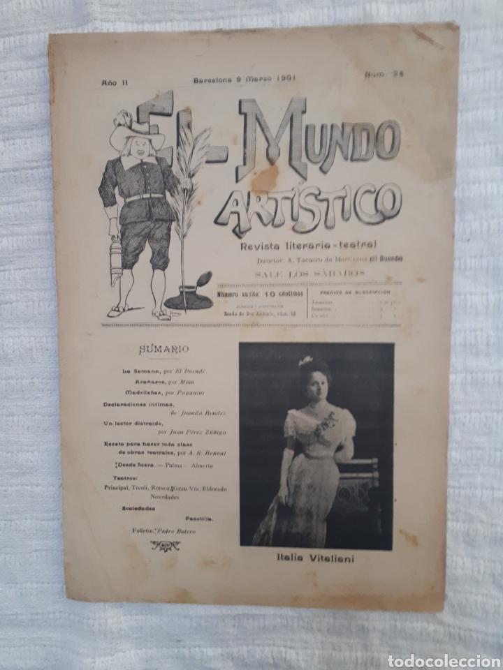Coleccionismo de Revistas y Periódicos: Revista literaria - teatral. El Mundo Artístico. 1900 - 1901 - Foto 5 - 163611722