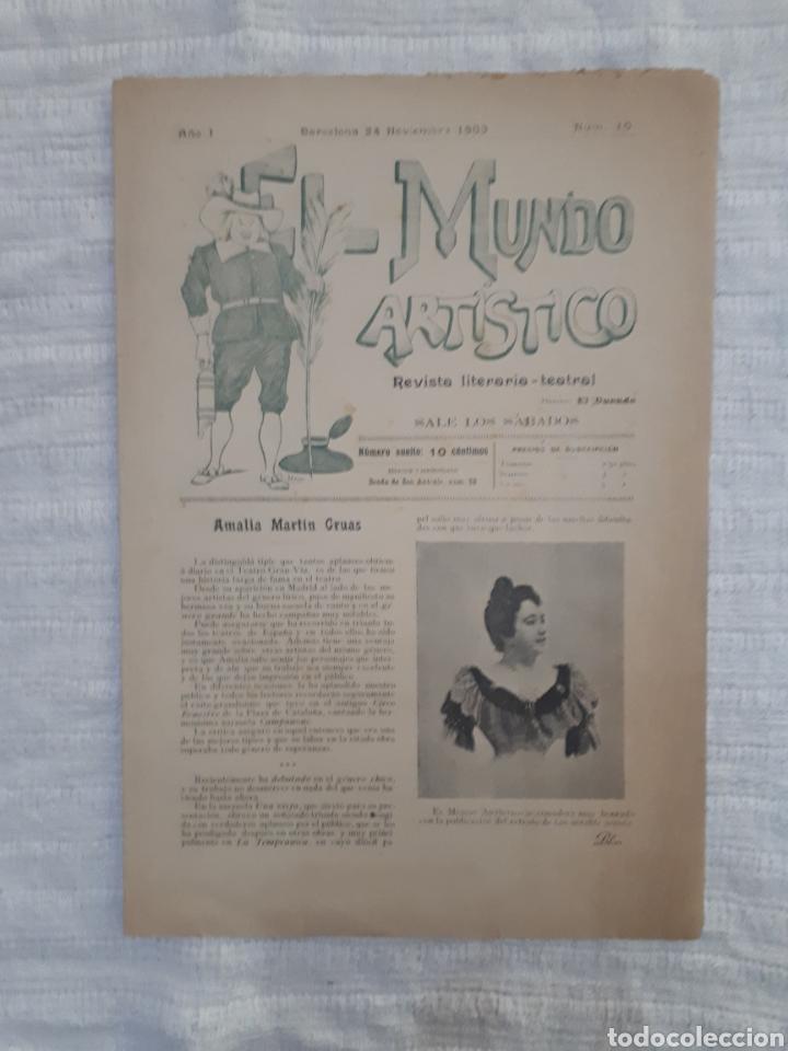 Coleccionismo de Revistas y Periódicos: Revista literaria - teatral. El Mundo Artístico. 1900 - 1901 - Foto 6 - 163611722