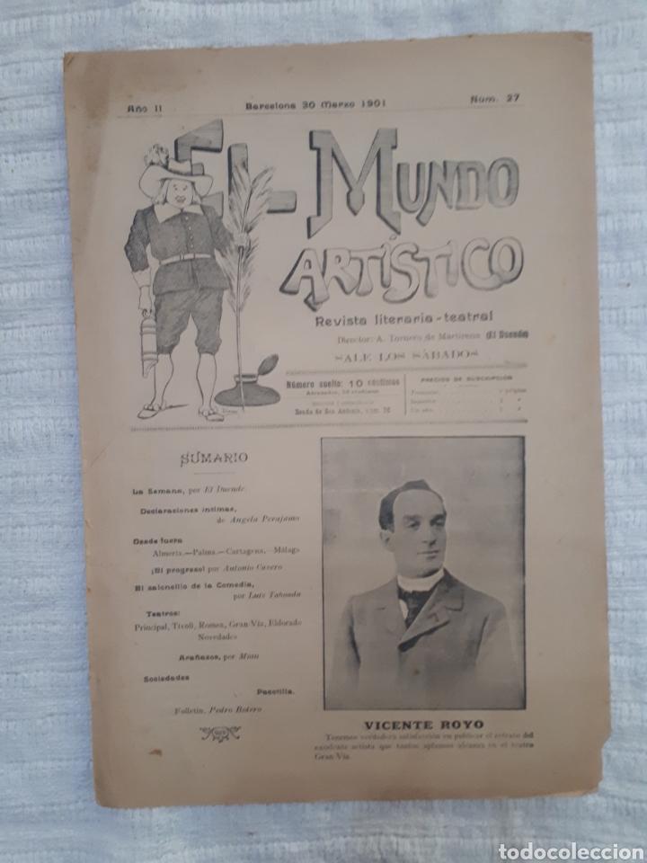 Coleccionismo de Revistas y Periódicos: Revista literaria - teatral. El Mundo Artístico. 1900 - 1901 - Foto 8 - 163611722