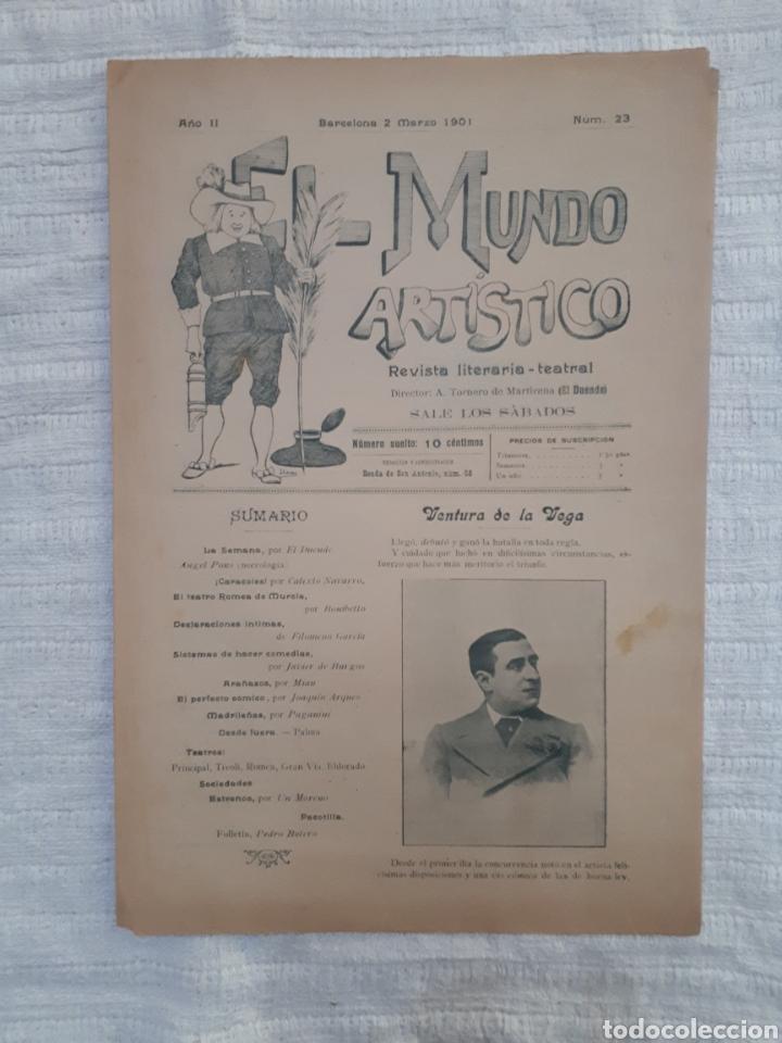 Coleccionismo de Revistas y Periódicos: Revista literaria - teatral. El Mundo Artístico. 1900 - 1901 - Foto 9 - 163611722