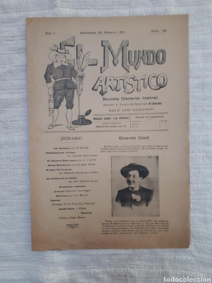 Coleccionismo de Revistas y Periódicos: Revista literaria - teatral. El Mundo Artístico. 1900 - 1901 - Foto 10 - 163611722