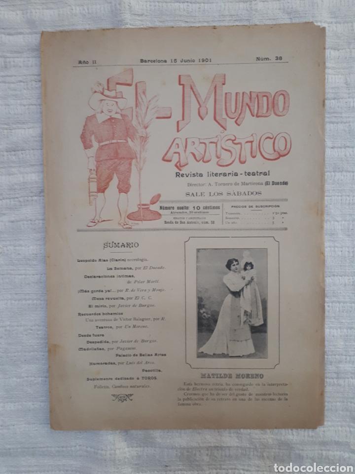 Coleccionismo de Revistas y Periódicos: Revista literaria - teatral. El Mundo Artístico. 1900 - 1901 - Foto 11 - 163611722