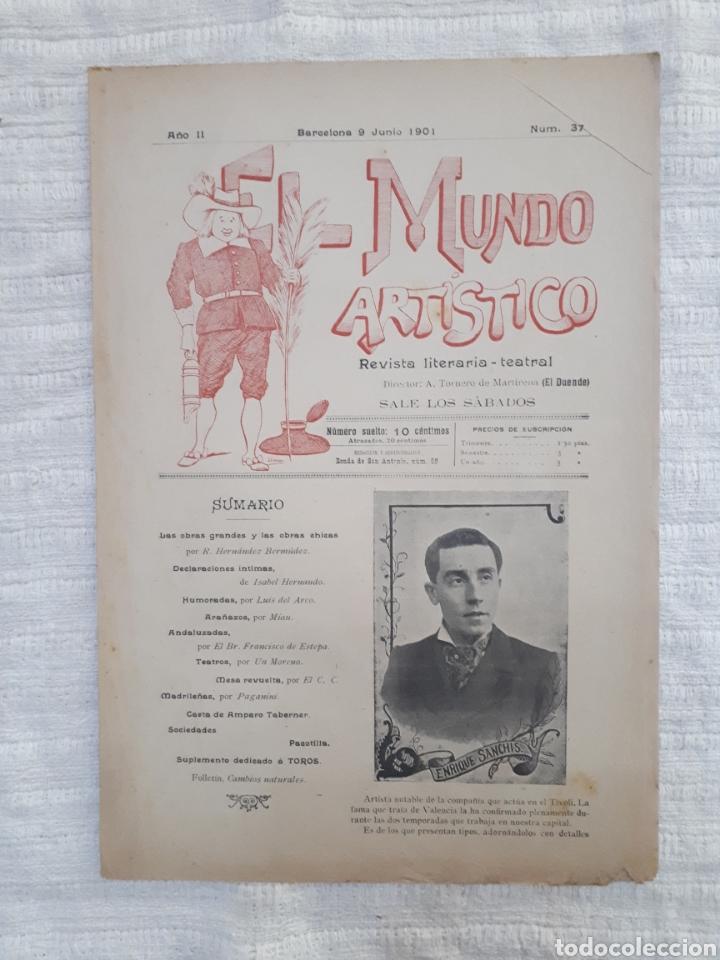 Coleccionismo de Revistas y Periódicos: Revista literaria - teatral. El Mundo Artístico. 1900 - 1901 - Foto 12 - 163611722