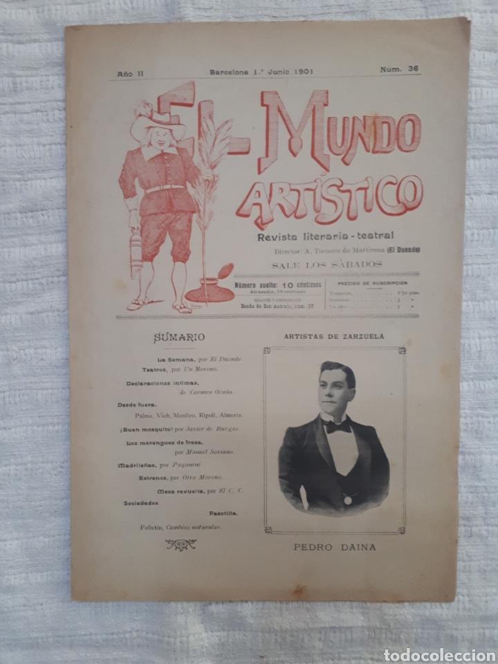 Coleccionismo de Revistas y Periódicos: Revista literaria - teatral. El Mundo Artístico. 1900 - 1901 - Foto 13 - 163611722