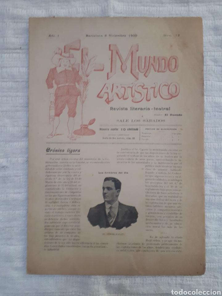 Coleccionismo de Revistas y Periódicos: Revista literaria - teatral. El Mundo Artístico. 1900 - 1901 - Foto 14 - 163611722