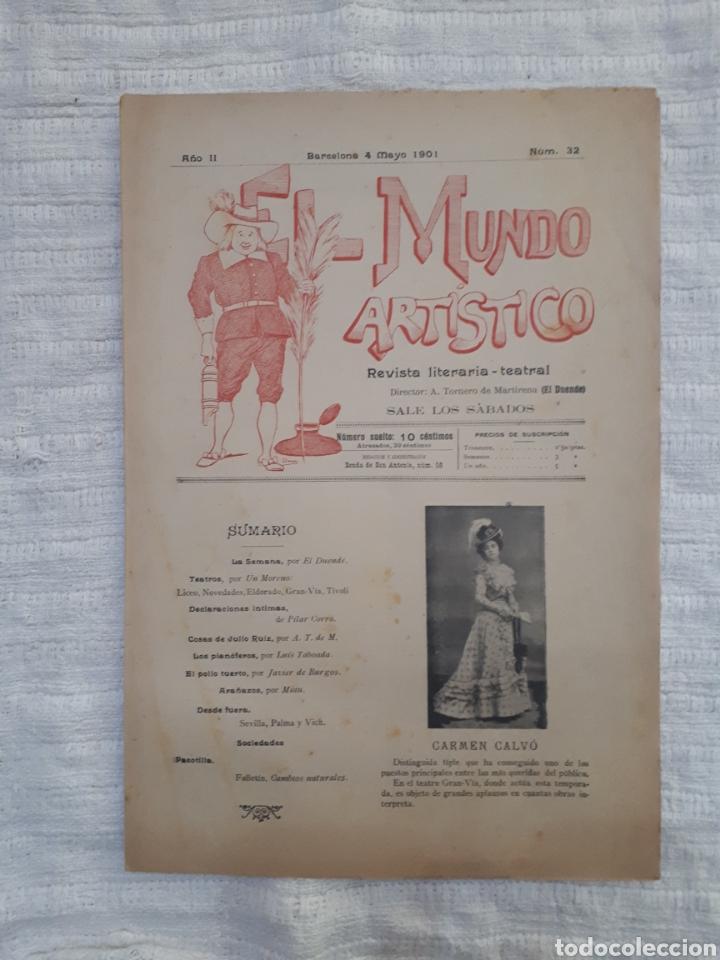 Coleccionismo de Revistas y Periódicos: Revista literaria - teatral. El Mundo Artístico. 1900 - 1901 - Foto 15 - 163611722