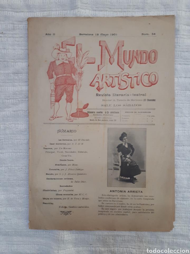 Coleccionismo de Revistas y Periódicos: Revista literaria - teatral. El Mundo Artístico. 1900 - 1901 - Foto 16 - 163611722