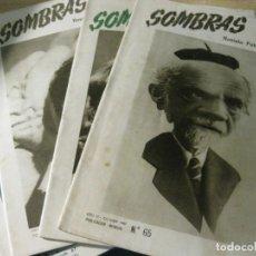 Coleccionismo de Revistas y Periódicos: 4 REVISTA FOTOGRAFICA ESPAÑOLA SOMBRA N- 65-68-67-66 AÑO 1949 -50 . BUEN ESTADO . Lote 163765350