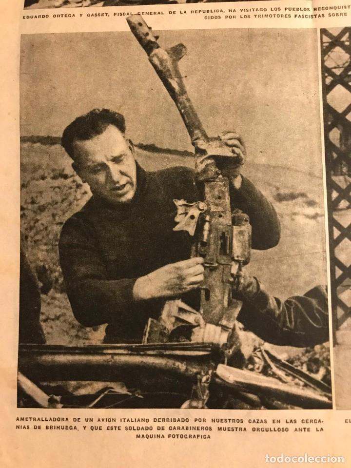 Coleccionismo de Revistas y Periódicos: La Vanguardia 1937. Guerra civil española. Trijueque. Brihuega. Arganda. Guadix. Saza. Cullar - Foto 2 - 147549954