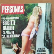 Coleccionismo de Revistas y Periódicos: REVISTA PERSONAS N° 57 1974 BRIGITTE BARDOT, GOEBBELS, ANN MARGRET, AMANDA LEAR. Lote 163846122
