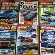 Coleccionismo de Revistas y Periódicos: LOTE 6 REVISTAS DE COCHES - AUTOPISTA. Lote 163950261