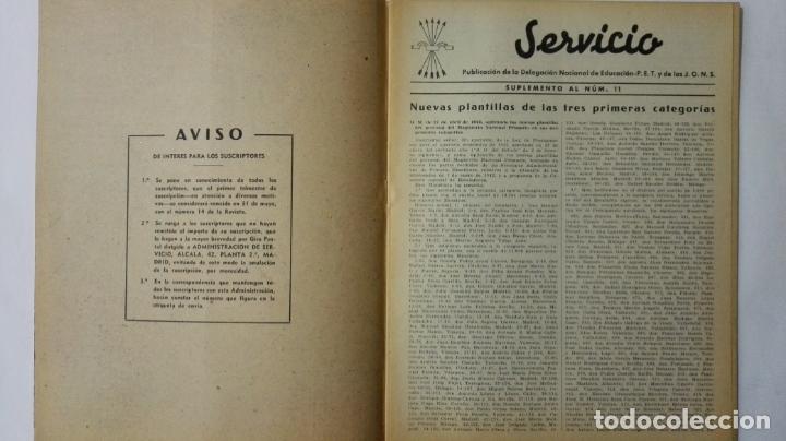 Coleccionismo de Revistas y Periódicos: REVISTA SERVICIO, Nº 11, PUBLICACION DE LA DELEGACION NACIONAL DE EDUCACION, F.E.T. DE LAS J.O.N.S - Foto 2 - 164005462
