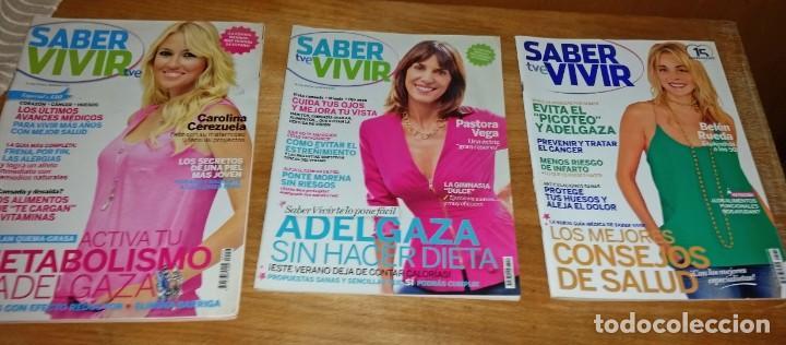 Coleccionismo de Revistas y Periódicos: LOTE 9 REVISTAS SABER VIVIR - Foto 5 - 164085962