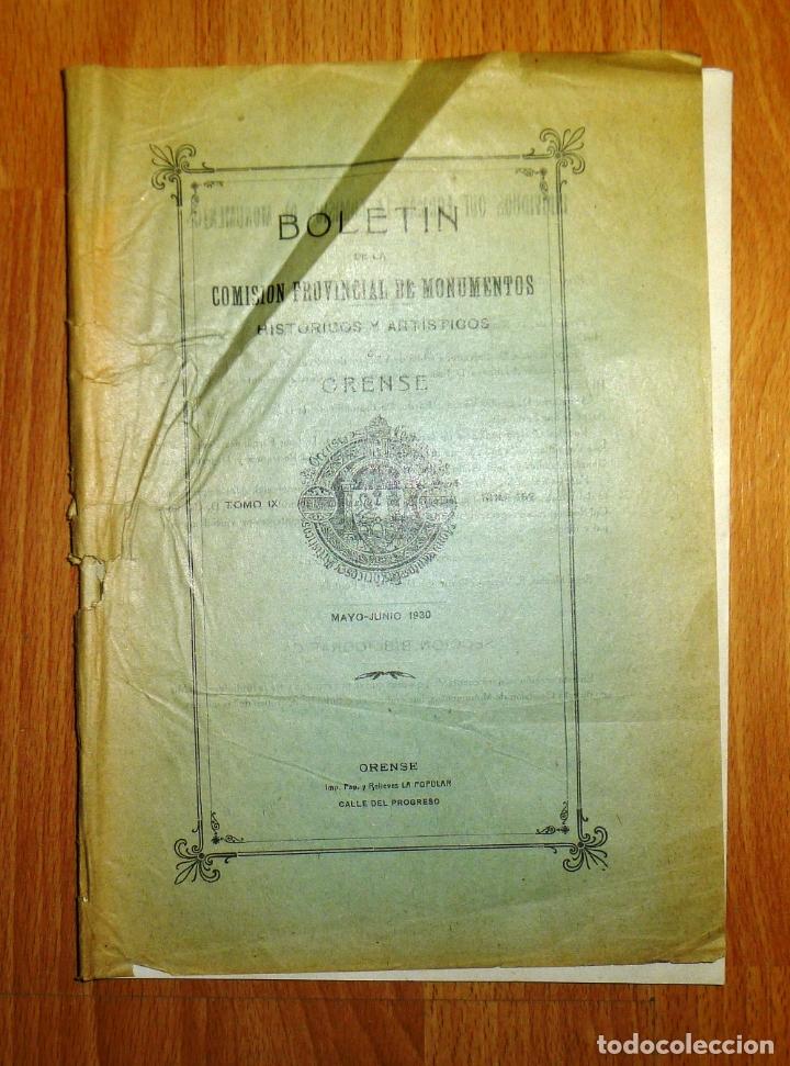 BOLETÍN DE LA COMISIÓN DE MONUMENTOS HISTÓRICOS Y ARTÍSTICOS DE ORENSE. TOMO IX, 1930, Nº 192 (Coleccionismo - Revistas y Periódicos Antiguos (hasta 1.939))