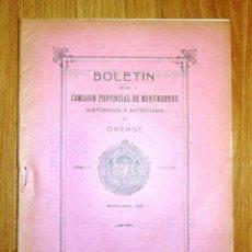 Coleccionismo de Revistas y Periódicos: BOLETÍN DE LA COMISIÓN DE MONUMENTOS HISTÓRICOS Y ARTÍSTICOS DE ORENSE. TOMO IX, 1931, Nº 197. Lote 164520594