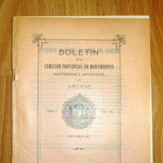 Coleccionismo de Revistas y Periódicos: BOLETÍN DE LA COMISIÓN DE MONUMENTOS HISTÓRICOS Y ARTÍSTICOS DE ORENSE. TOMO IX, 1931, Nº 198. Lote 164520734