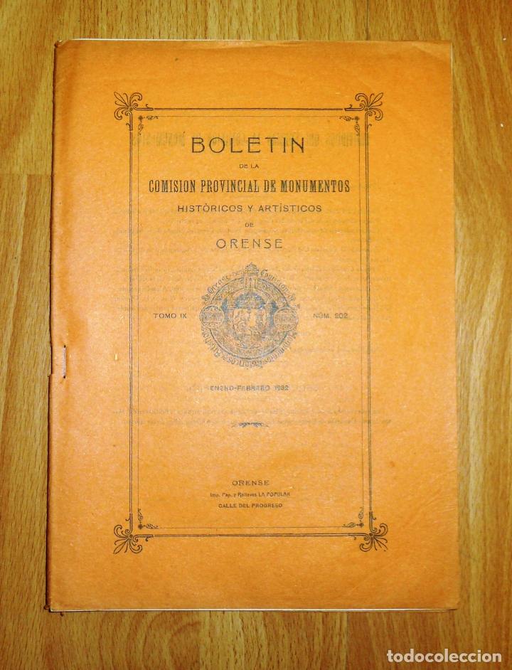 BOLETÍN DE LA COMISIÓN DE MONUMENTOS HISTÓRICOS Y ARTÍSTICOS DE ORENSE. TOMO IX, 1932, Nº 202 (Coleccionismo - Revistas y Periódicos Antiguos (hasta 1.939))