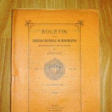 Coleccionismo de Revistas y Periódicos: BOLETÍN DE LA COMISIÓN DE MONUMENTOS HISTÓRICOS Y ARTÍSTICOS DE ORENSE. TOMO IX, 1932, Nº 202. Lote 164521110